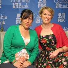 Kristy and Jenn before taping interview with Q13 FOX Seattle