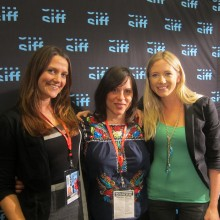 WONDER WOMEN! Producer Kelcey Edwards and Director Kristy Guevara-Flanagan with SIFFtv's Megan Griffiths