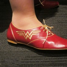Jennifer Stuller's awesome Wonder Woman shoes