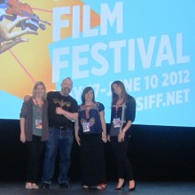 Executive Producer Erin Prather Stafford, Andy, Kristy and Kelcey at Everett screening
