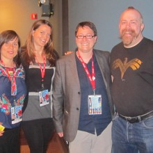 Kristy, Kelcey, Beth Barrett, Director of Programming for SIFF and Andy at Everett screening