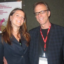 "Kelcey with Director Kirby Dick. His documentary ""The Invisible War"" also screened at SIFF"