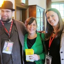 Dustin Kaspar, Film Programmer/Educations Program Manager for SIFF, Kristy and Kelcey at Harvard Exit screening