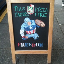 On the streets of Seattle, our new favorite pizza advertisement