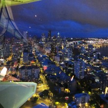 On top of the Space Needle. Thank you SIFF and Seattle!