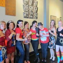 The WONDER WOMEN! of Superheroine Happy Hour!